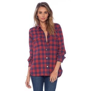 Current/Elliott The Perfect Shirt Freight Plaid